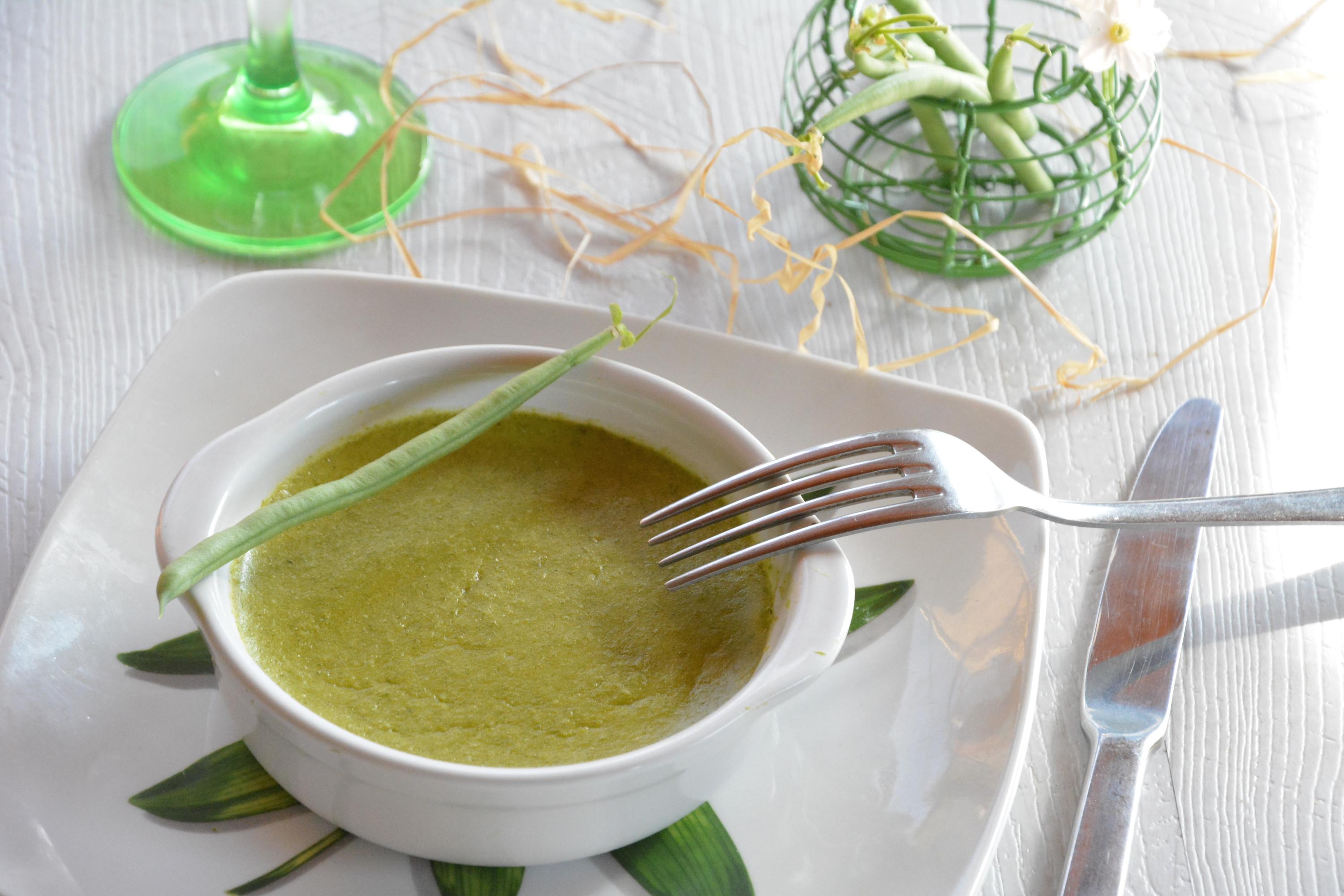 Mousse de haricots verts au parmesan au fil du thym - Comment congeler les haricots verts du jardin ...