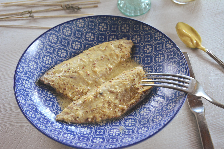 Maquereaux la moutarde en papillote au fil du thym - Cuisiner des maquereaux ...