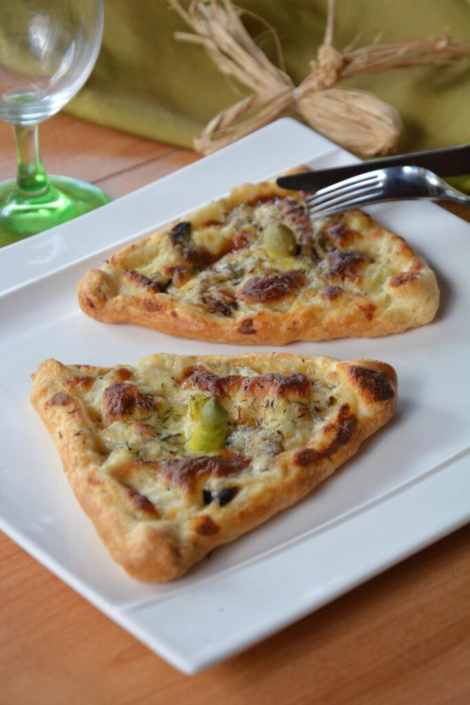 feuilletés asperges et parmesan
