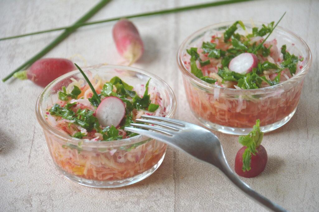 """Salade radis pomme 'toute douce"""""""