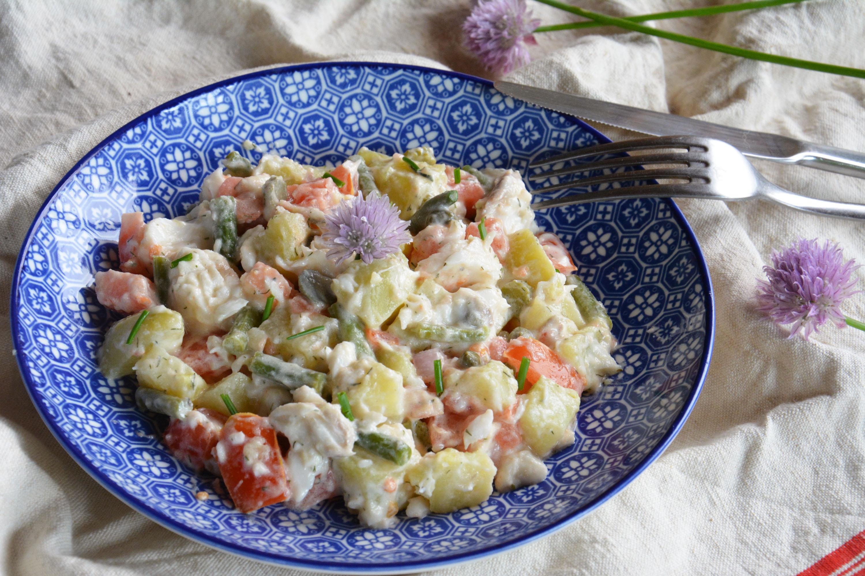 Comme une salade pi montaise de la mer au poisson au for Salade poisson