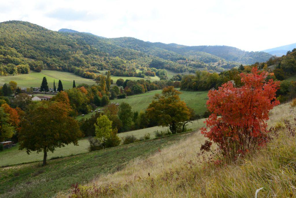 Ballade automne vercors - Grimpée dans les collines