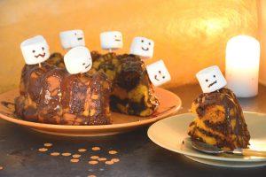 Gâteau Halloween facile - Gâteau potiron chocolat