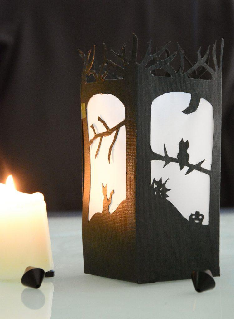 Diy lanterne en papier d coup pour halloween au fil du thym - Lanterne en papier ...