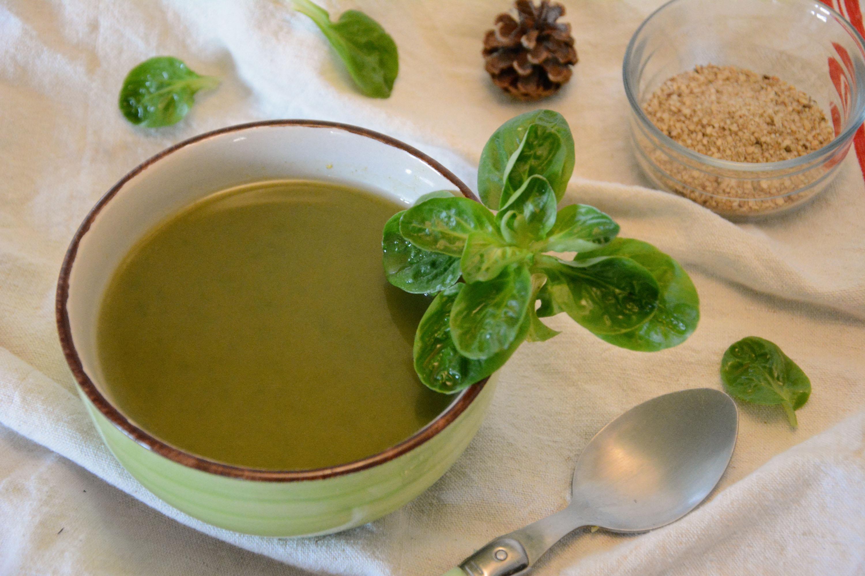 soupe mâche patate douce - idée de soupe facile et légère