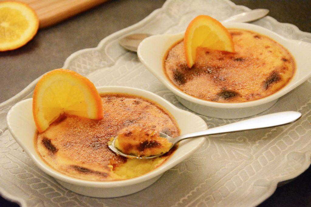 crème brûlée orange - dessert gourmand et facile