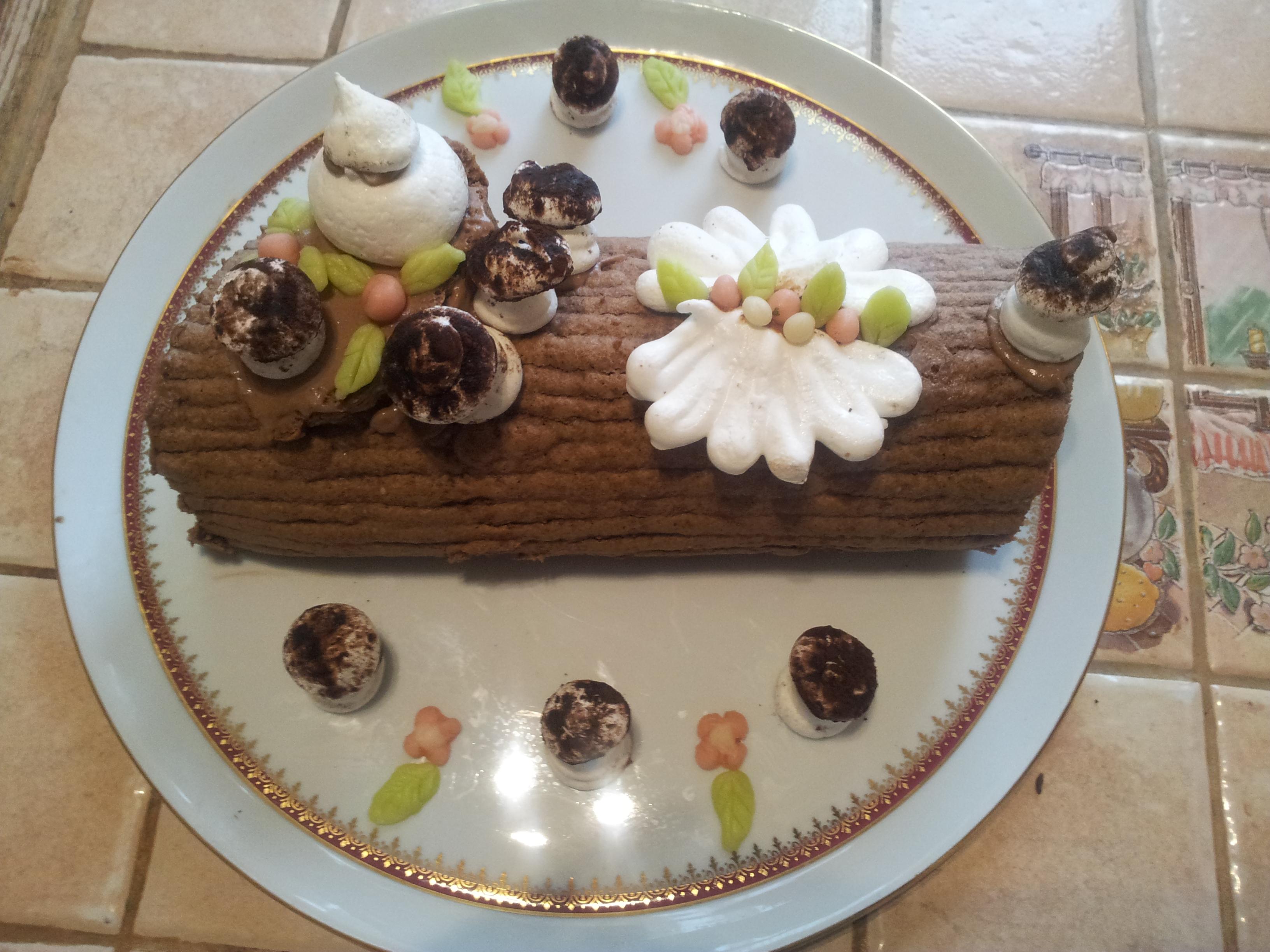 Bûche Bavaroise tout chocolat
