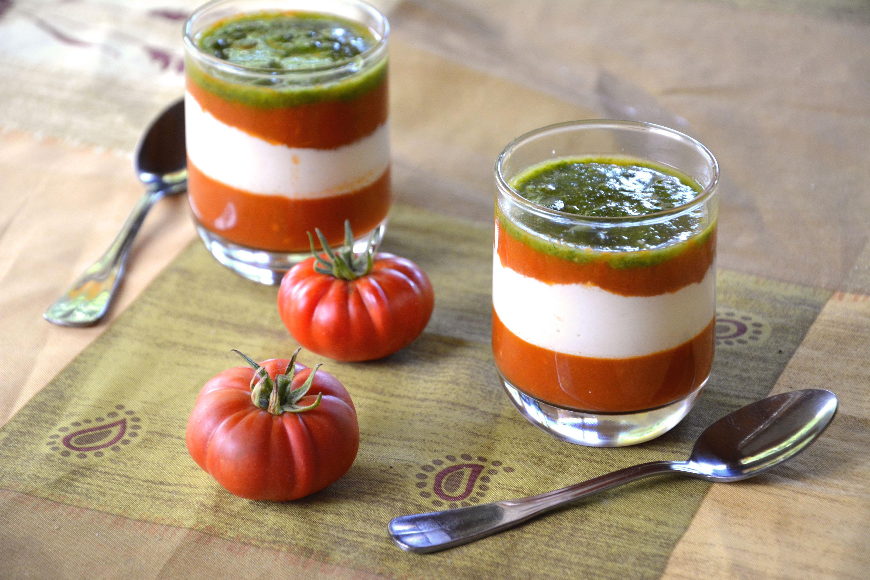 La Tomate Mozza revisitée (en verrine)