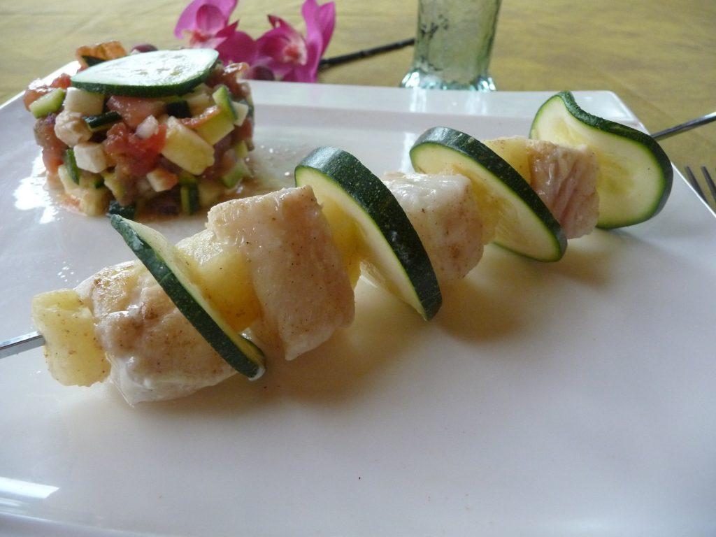 Brochettes julienne sucre-sale
