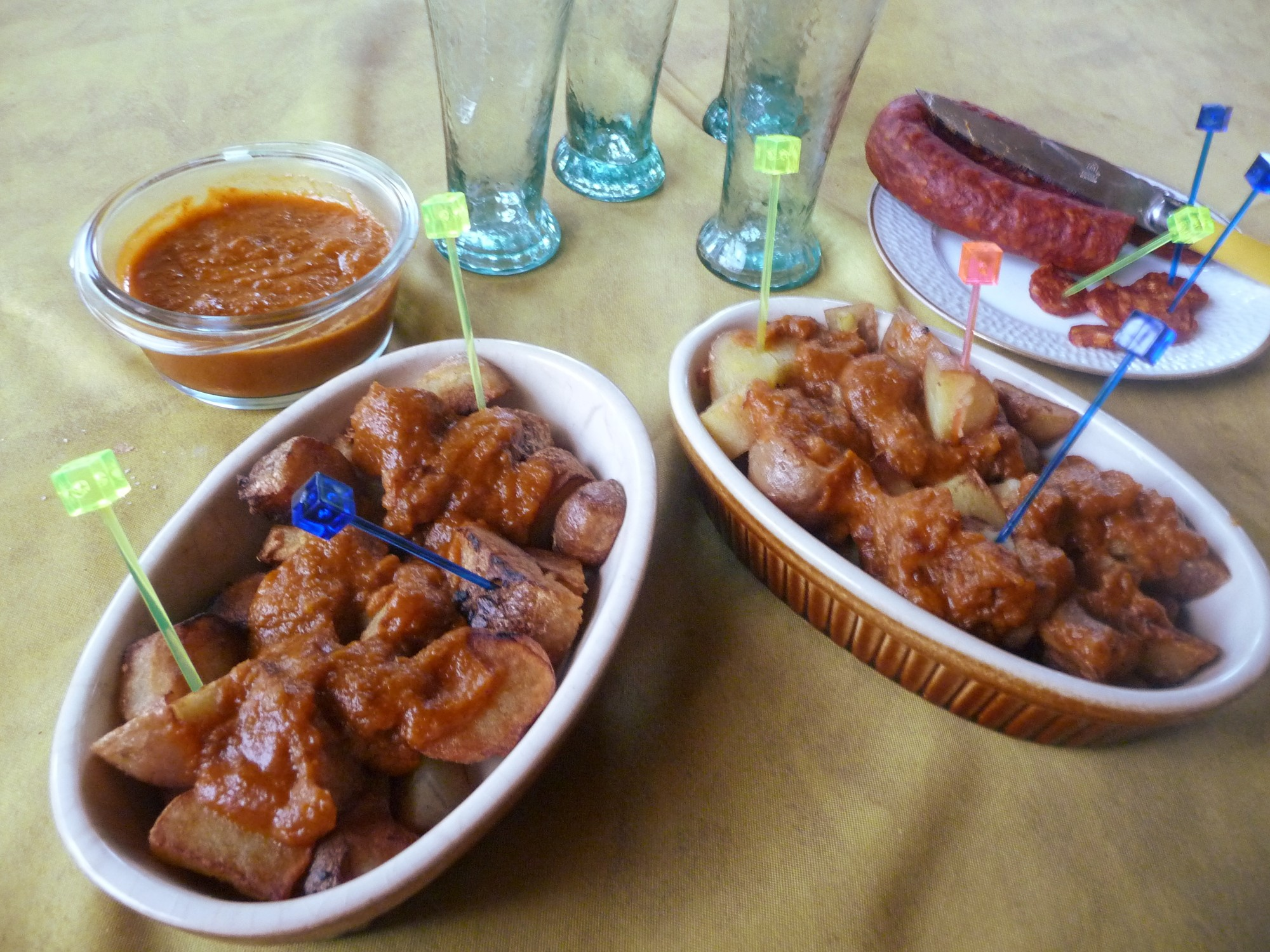 Patatas Bravas With Pimenton Sauce Recipe — Dishmaps