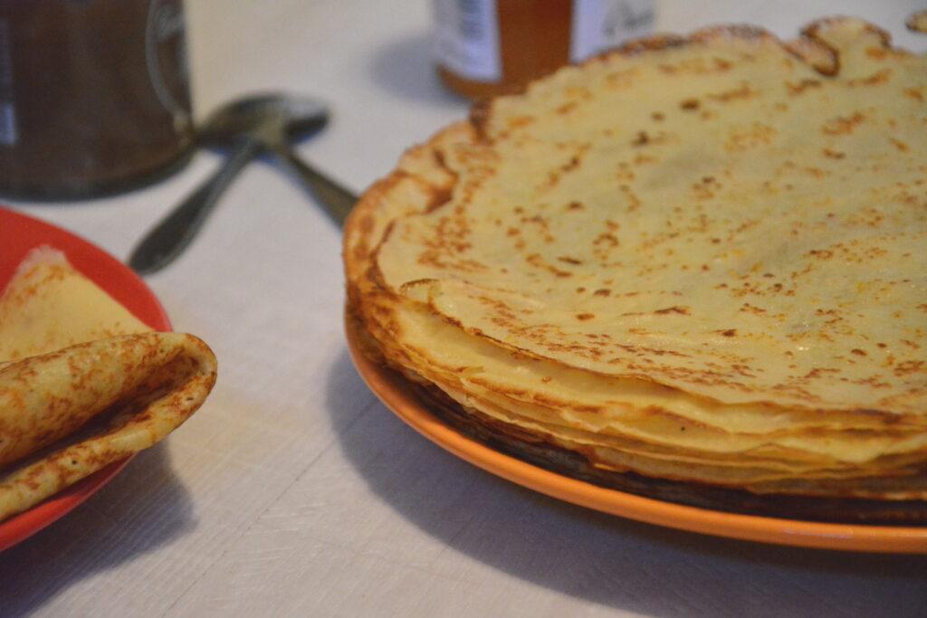 crêpes aux zestes d'orange - recette facile crêpe orange