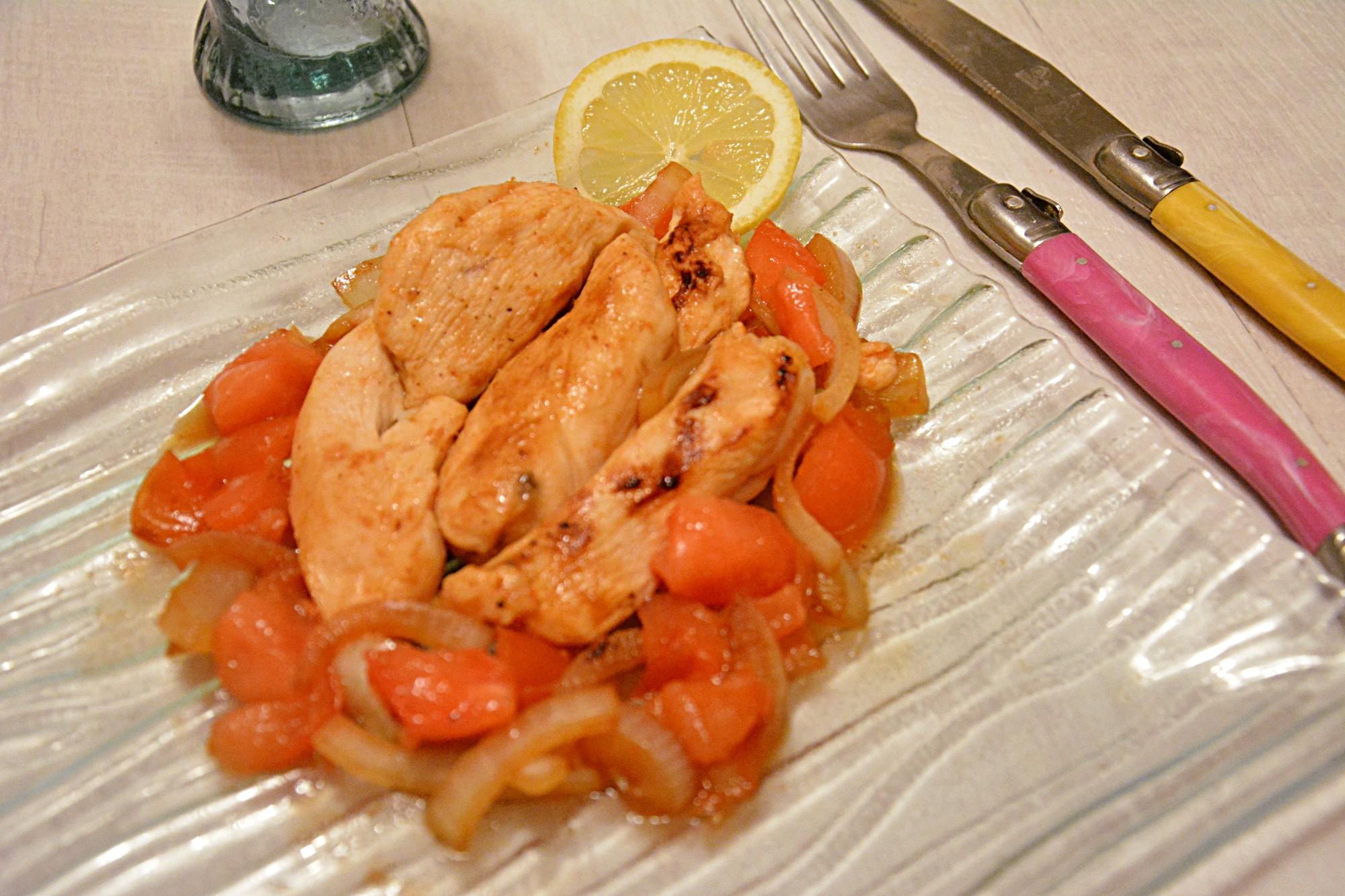Blancs de poulet marinés au citron et rhum