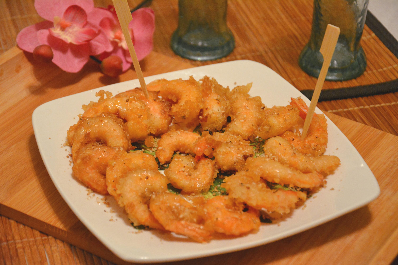 Crevettes croustillantes au miel et sésame (Chine)