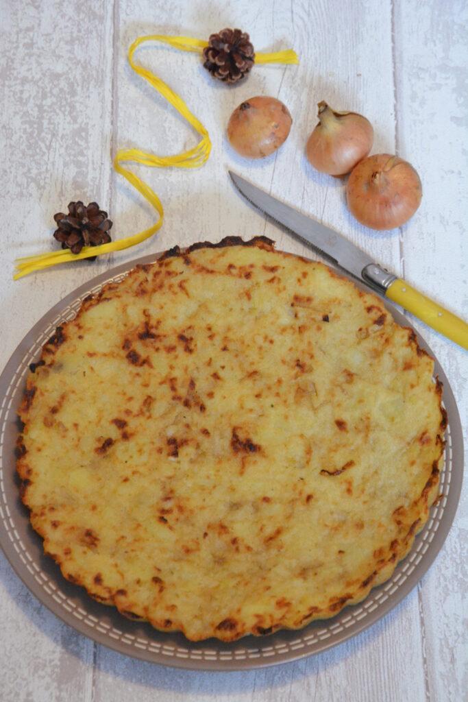 menu février 2021 : galette lyonnaise (galette pomme de terre)