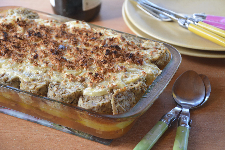 Gratin d andouillettes aux pommes lyonnaises au fil du thym - Cuisiner des andouillettes ...