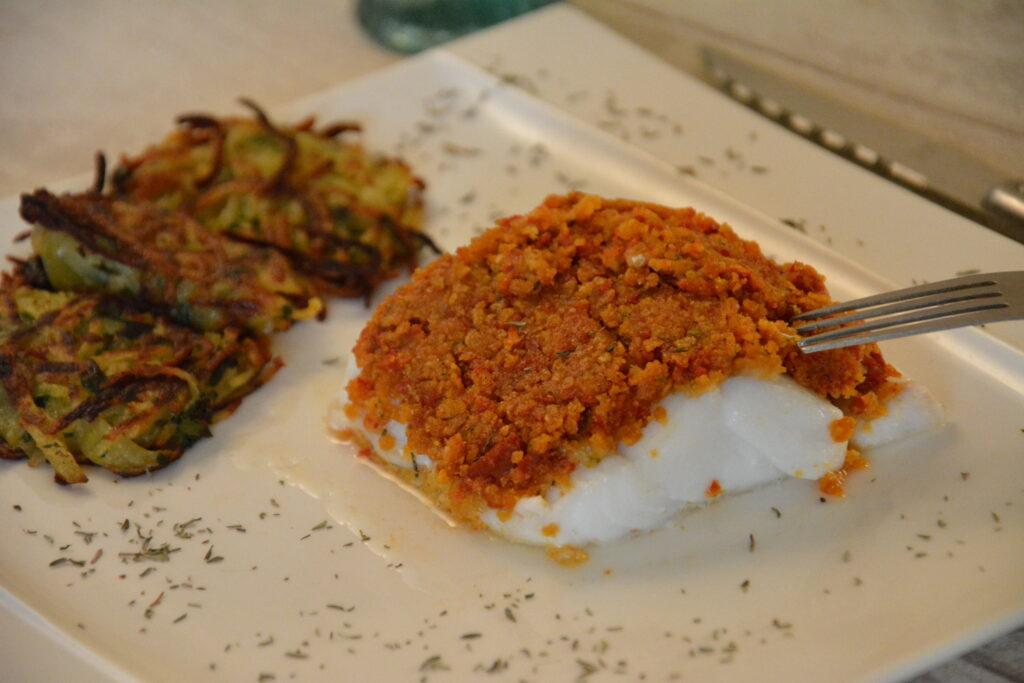 Cabillaud-croute-chorizo