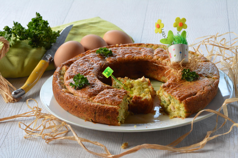 """Cake """"fermier"""" : poulet, comté et persil"""