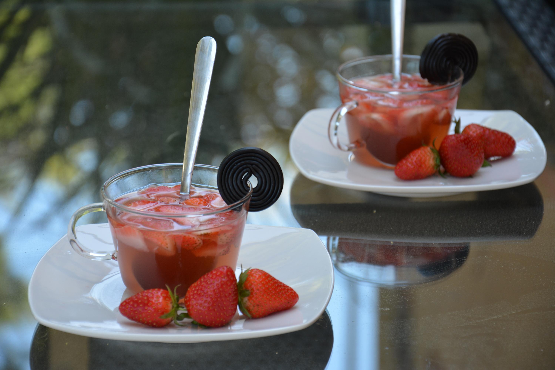 Soupe de fraises à la réglisse