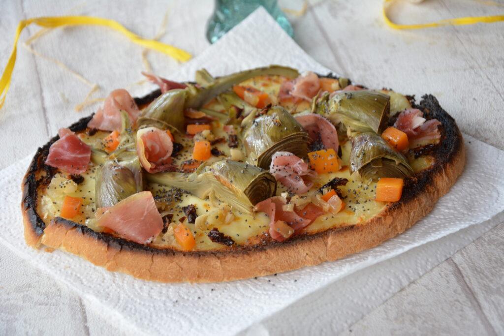 tartine mozza artichaut