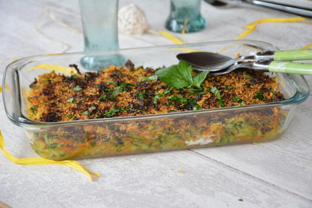 Gratin courgette carotte léger