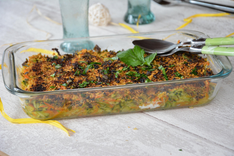 Gratin léger courgettes & carottes