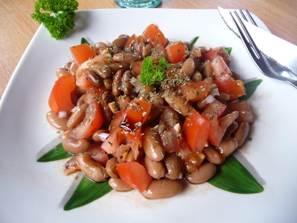 salade haricot borlotti tomate