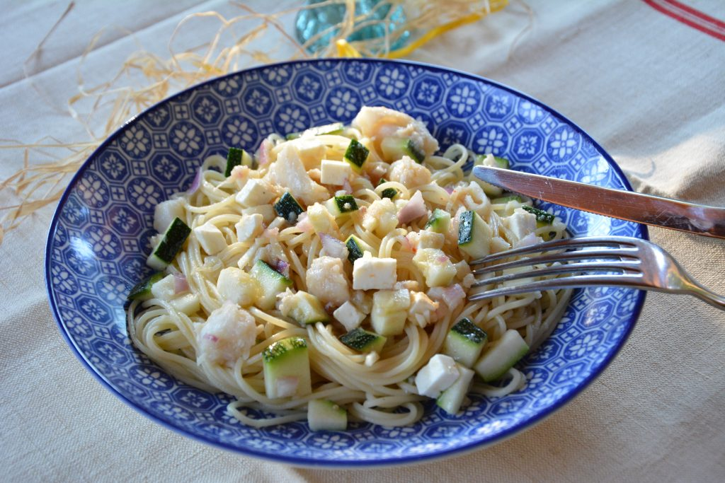 salade-pates-poisson-courgettes