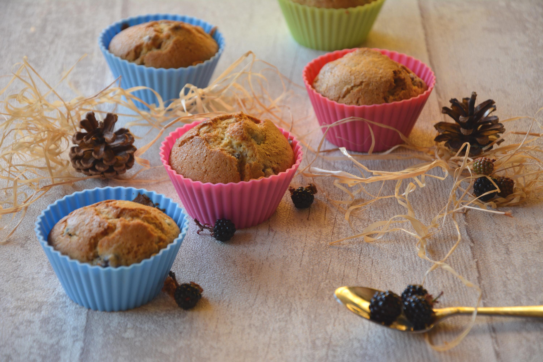 Muffins aux mûres et au miel