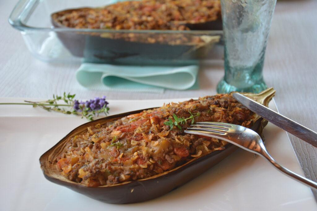 Recette aubergines farcies à la provençale - recette d'aubergines farcies pour régaler une grande tablée