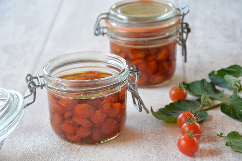 conserves tomates cerise / Tomates cerises confites - Au Fil du Thym