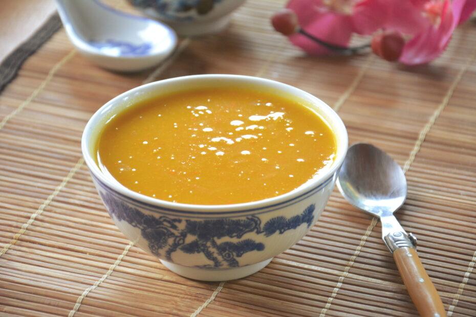 Soupe potimarron lait de coco et épices douces