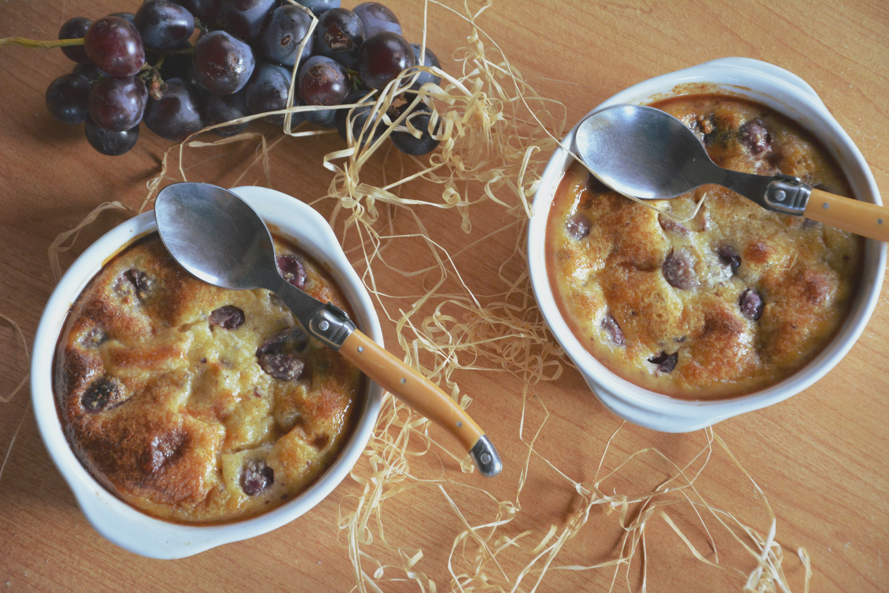 Gratins de raisin noisettins