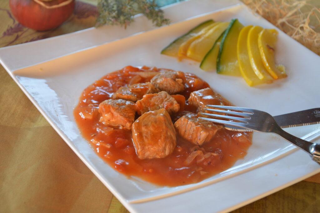 sauté de veau catalane - plat réconfort et délicieux