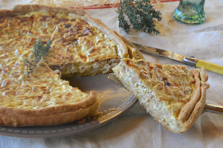 Quiche thon, oignons et thym {cuisine du placard}