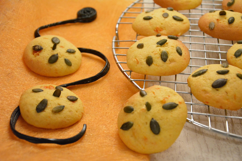 Cookies potiron et graines de courge {pour Halloween}