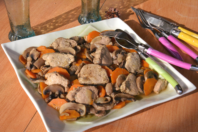 Mijoté de filet mignon aux champignons
