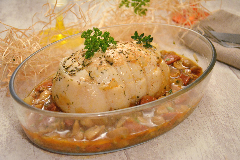 Rôti de dinde, sauce chorizo & champignons