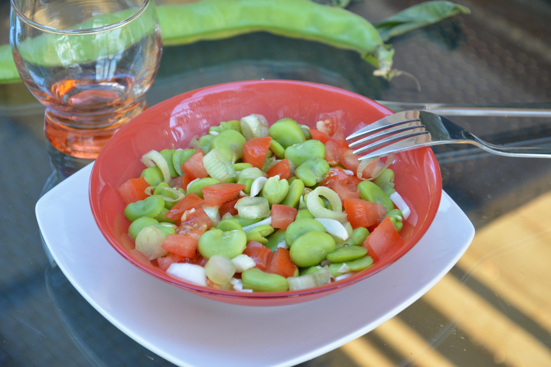 Fèves à la tomate & basilic