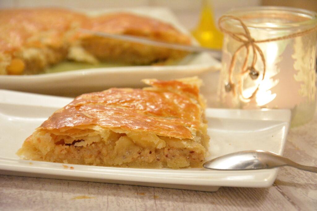 ggalette frangipane praline / galette des rois au praliné - part