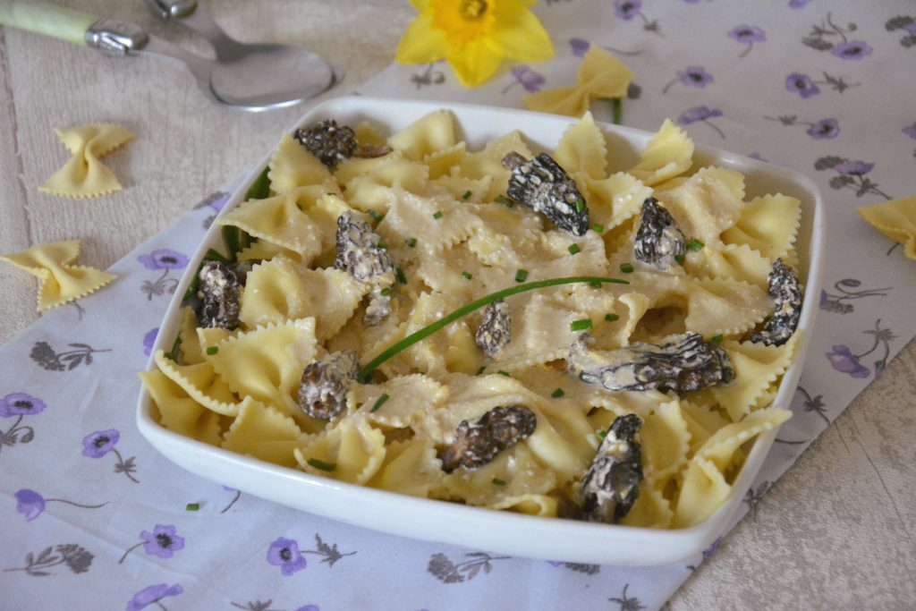 Farfalles aux morilles et mascarpone - pâtes aux morilles