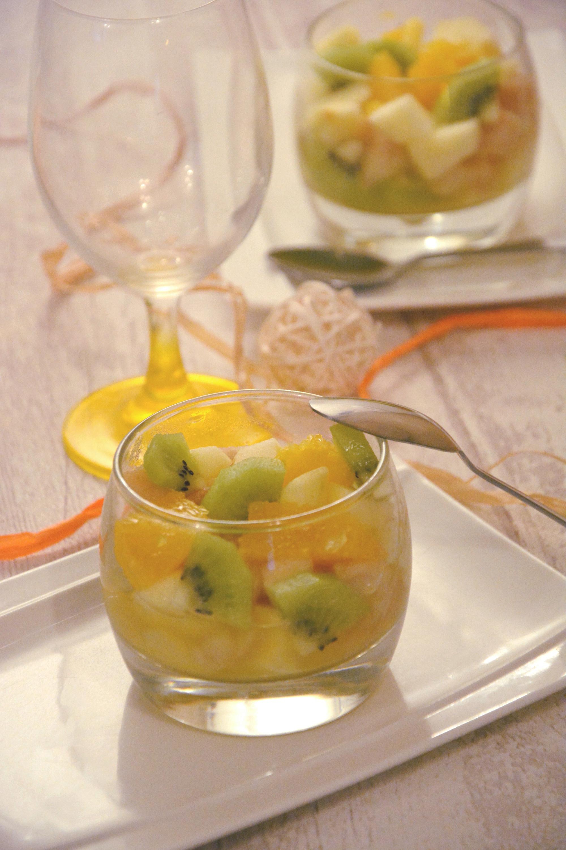Salade de fruits d'hiver {orange/kiwi/pommes/poires}