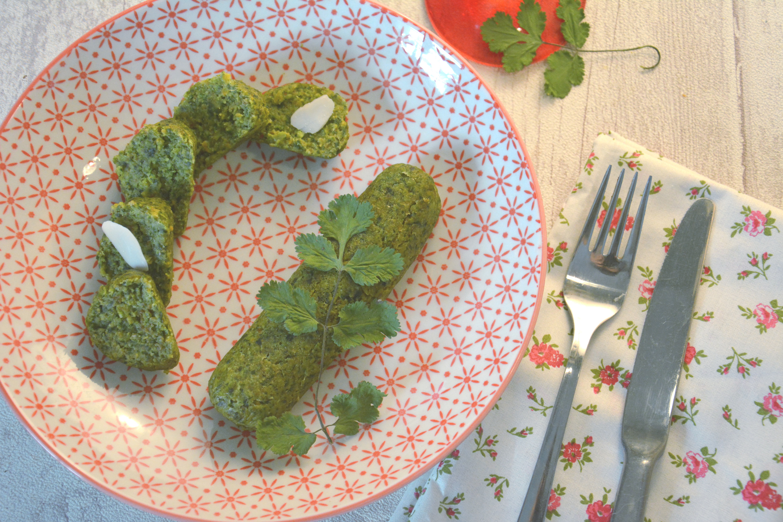 Ballotines végétales aux épinards, amandes et coriandre