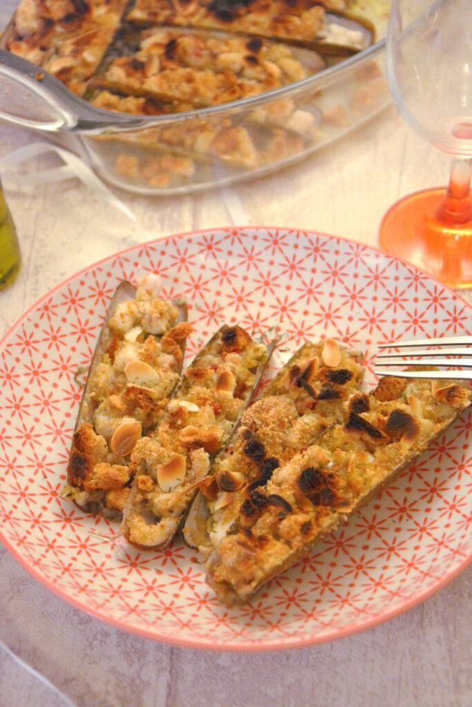 couteaux gratine amande citron huile olive