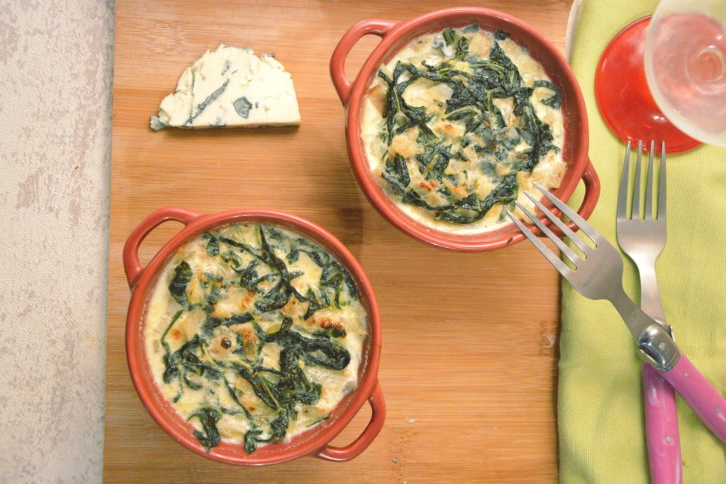 petit gratin blette bleu (saint agur) - Une délicieuse idée  pour cuisiner les blettesr