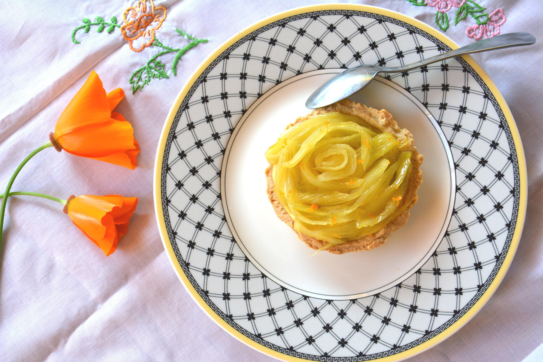 Tartelettes sucrées au fenouil confit et orange {bataille food #35}