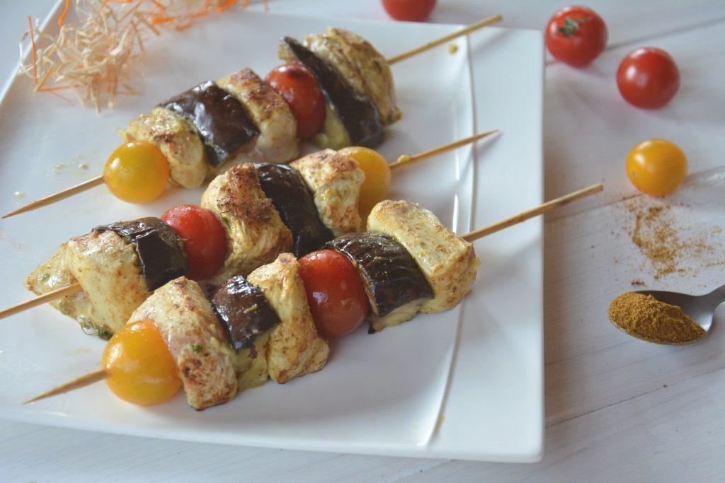 brochette poulet orientale (cumin & ras el hanout) - Au Fil du Thym