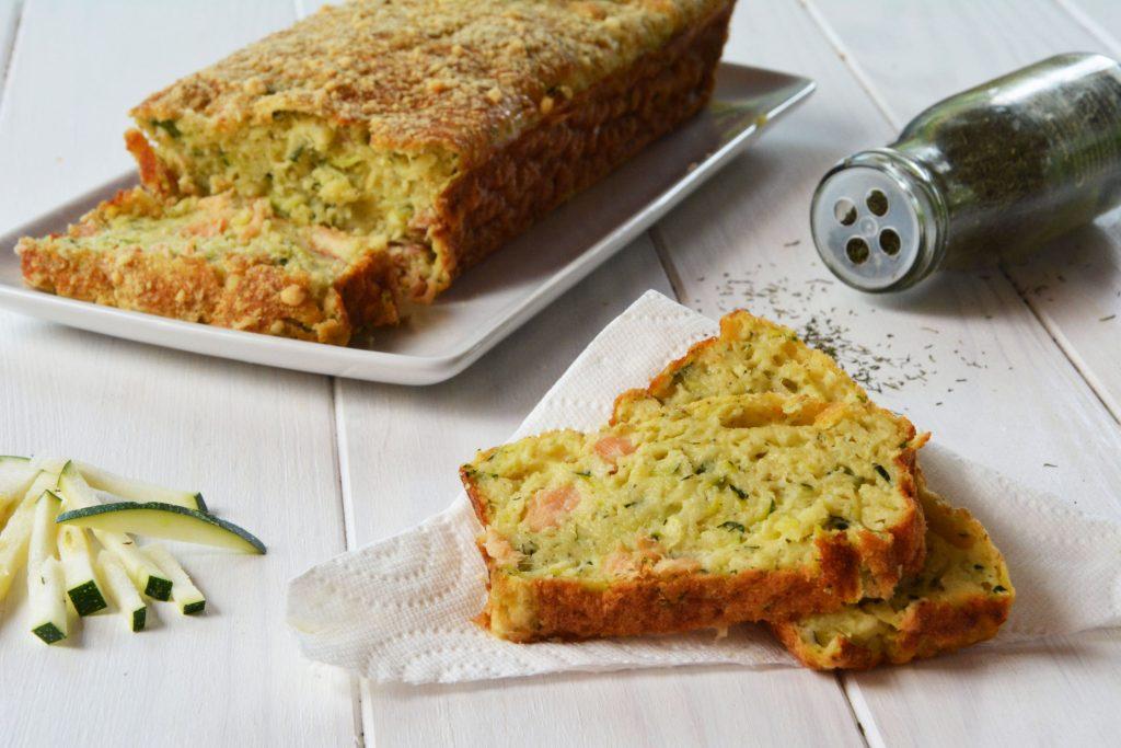 Cake courgette saumon fumé - pour apéro, apéro dinatoire, et repas sans prise de tête