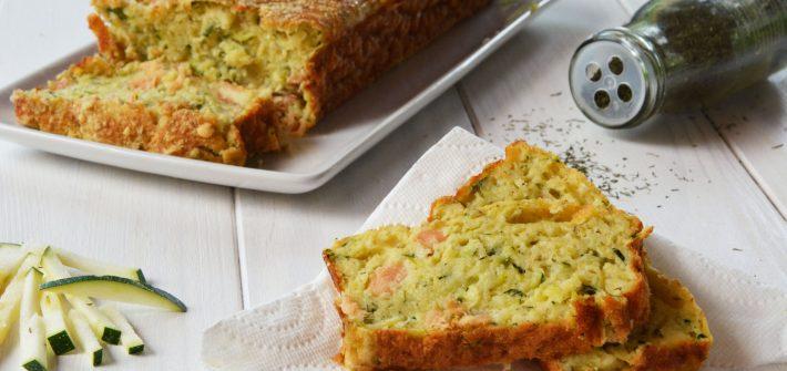 Cake courgette saumon fumé - pour apéro, apéro dinatoire, et repas asans prise de tête