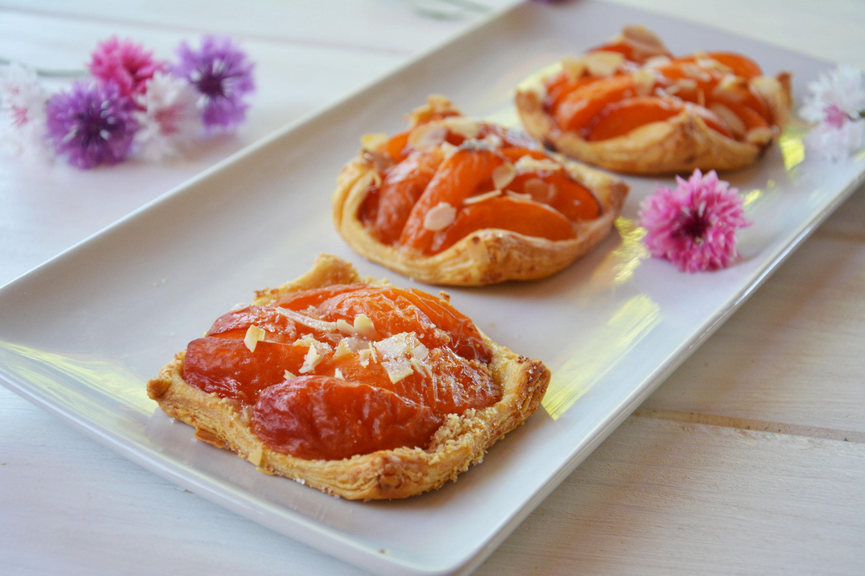 Carrés croustillants abricots amande