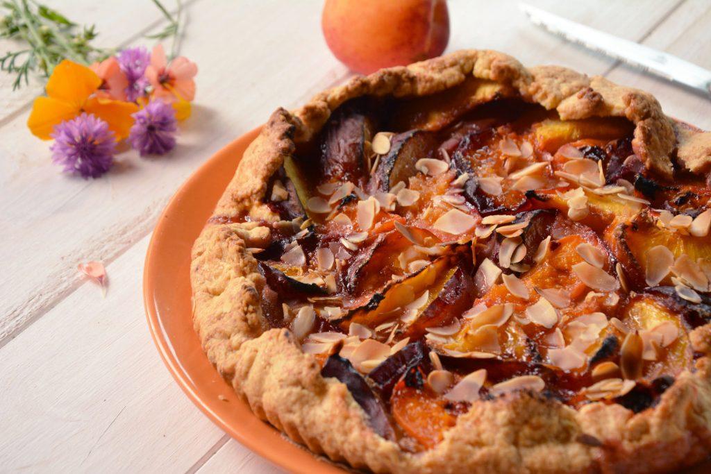 tarte rustique fruits été